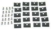 CLIP-HARDTOP REAR WINDOW MOLDING WITH SCREWS-40 PIECES-68-75 (#E19693) 3C4
