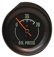 GAUGE-OIL PRESSURE-70 LBS.-GREEN FACE-68-71(#E5835) 1F2