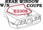 WEATHERSTRIP-REAR WINDOW-COUPE-USA-84-96 E2308