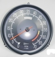 TACHOMETER-ASSEMBLY WITH 5300 RED LINE-L-48-75-77(#E14707)