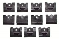 CLIP SET-WINDSHIELD MOLDING-CONVERTIBLE-11 PIECES-64-67 (#E10584) 3C4