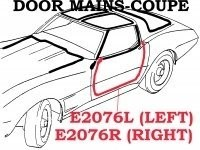 WEATHERSTRIP-DOOR MAIN-COUPE-USA-LEFT-78-82 (#E2076L)  4A3