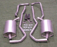 EXHAUST SYSTEM-ALUMINIZED-2 INCH-SMALL BLOCK- MANUAL-68-72 (#E1661M)