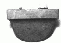 BUMPER-REAR CONTROL WITH NUT-EACH-76-82 (#E12344)