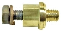 ADAPTER-BATTERY DISCONNECT SWITCH-ADAPTS SIDE POST BATTERY-BRASS-69-82 (#EC399) 1D2