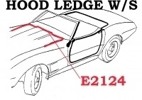 WEATHERSTRIP-HOOD LEDGE-USA-63-82 (#E2124) 4B4