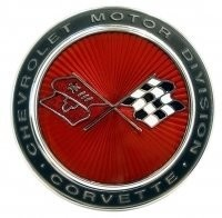 EMBLEM-FRONT-WITH FASTENERS-73-74 (#E3055)
