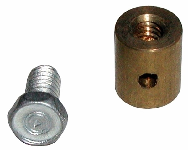STOP AND SCREW-HOOD RELEASE CABLE-DECKLID-BRASS-EACH-63-82 (#E9304) 1D2