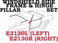WEATHERSTRIP SET-WINDSHIELD SIDE FRAME-PILLAR POST AND LOWER HINGE PILLAR-USA-LEFT-68-72 (#E2130L) 4A4
