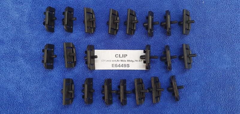 CLIP SET-REAR WINDOW MOLDING-21 PIECES-78-82 (#E6449S)