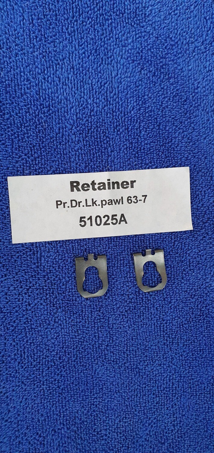 RETAINER-DOOR LOCK PAWL-OVAL HOLE-PAIR-56-82 (#51025A)