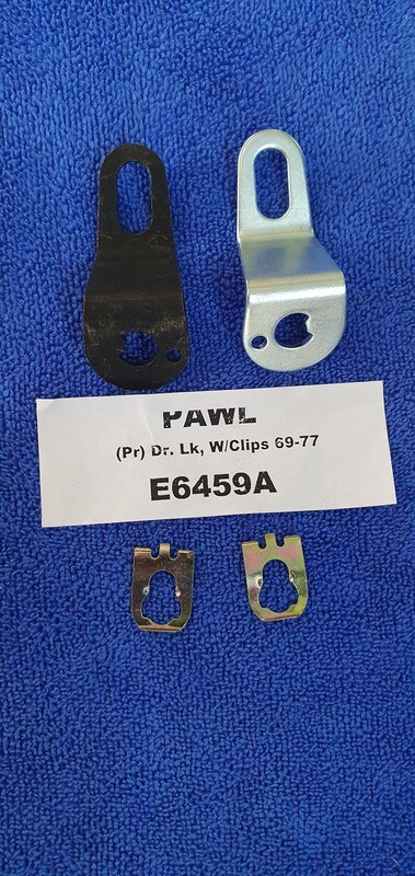 PAWL-DOOR LOCK-WITH CLIPS-PAIR-69-77 (#E6459A)