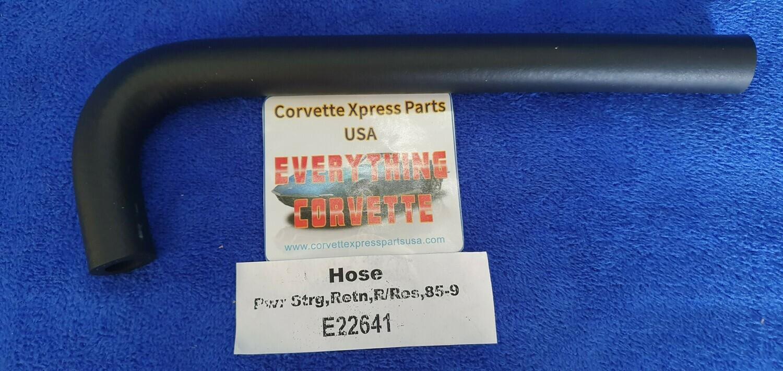 HOSE-POWER STEERING-RETURN-STEERING RACK TO RESERVOIR 85-89 (#E22641)