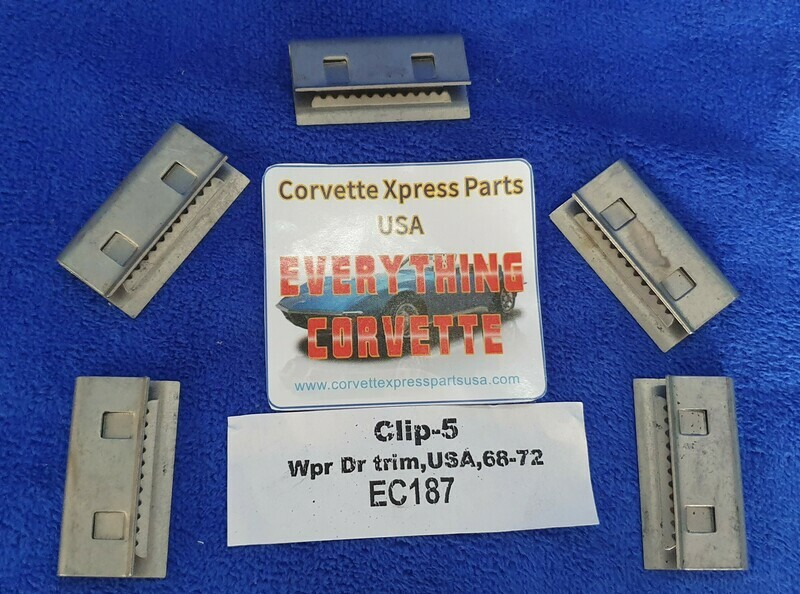 CLIP SET-WIPER DOOR TRIM-5 PIECES-68-72 (#EC187) 3C4