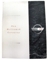 BROCHURE-ONE MILLIONTH CORVETTE PRESS RELEASE-ORIGINAL N.O.S-1992 (#E10687)