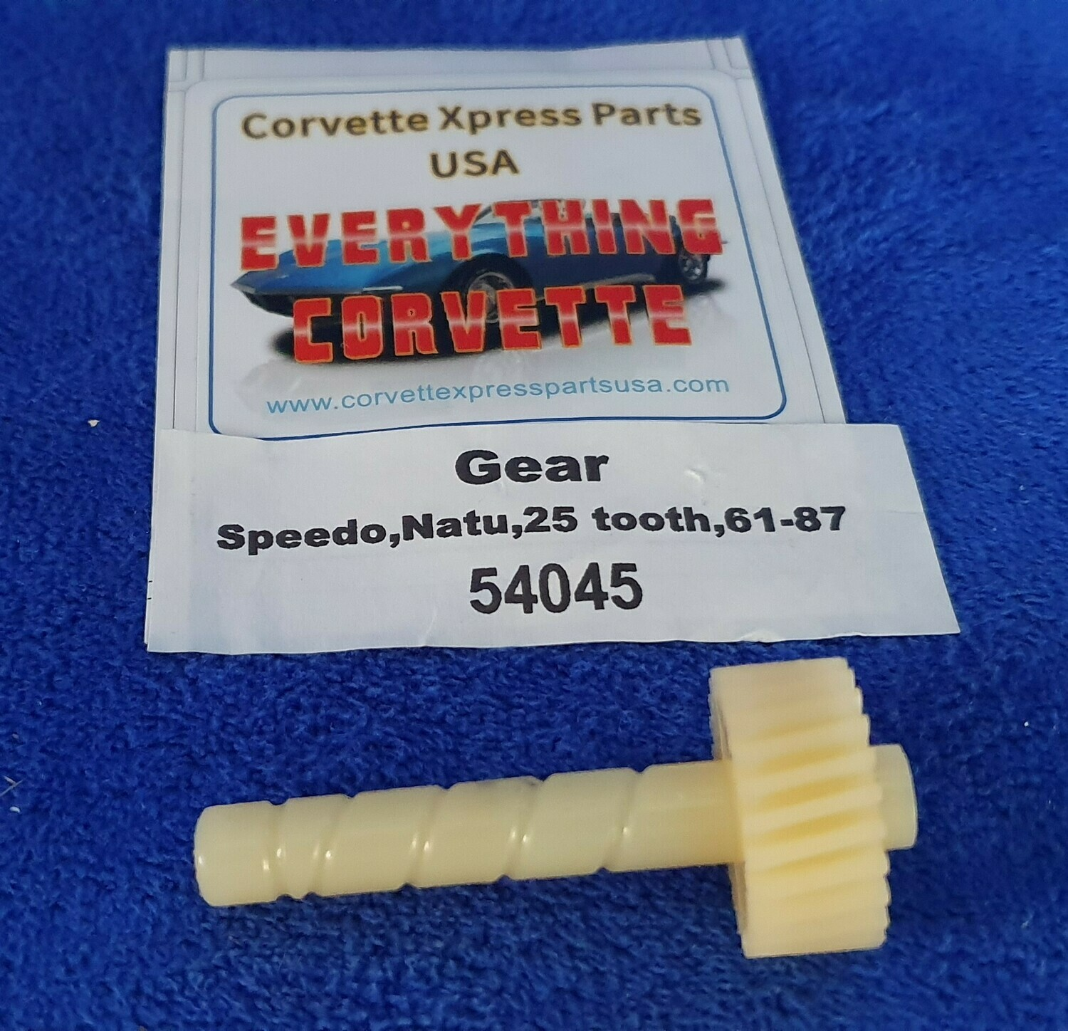 GEAR-SPEEDOMETER DRIVE-NATURAL-25 TOOTH-4.56 REAR-61-81 (#54045)