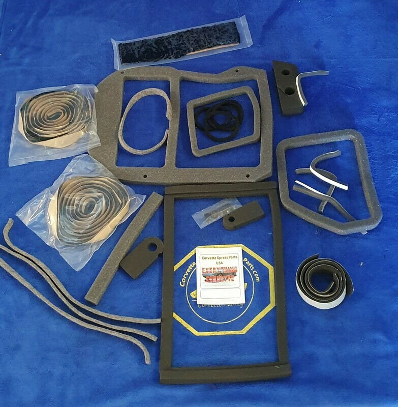 SEAL KIT-HEATER BOX-WITH AIR CONDITIONING-68-77 (#E5840)
