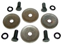 BOLT AND LOCK WASHER SET-UPPER BUSHING RETAINER-4 EACH-63-82 (#E9939)
