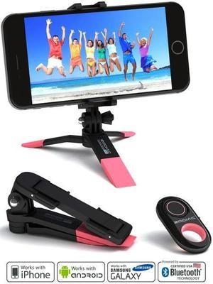 セルフィーリモートシャッター ゾディアックプロ ブルー/ピンク SW-ZODIACPRO-BLU/PINK iPhone/Android/GoPro/デジカメ