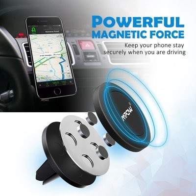 Mpow Strong Magnet Phone Mount Holder 強力マグネット車載ホルダー iPhone/Android/Mini Tablet