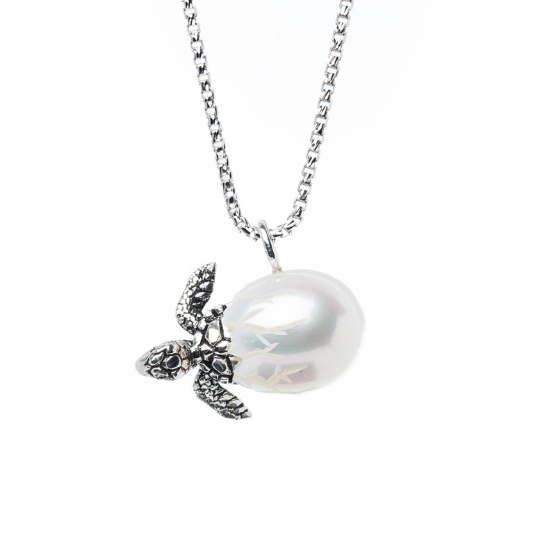 Turtle Egg Pendant from the Galatea Hawaii Collection