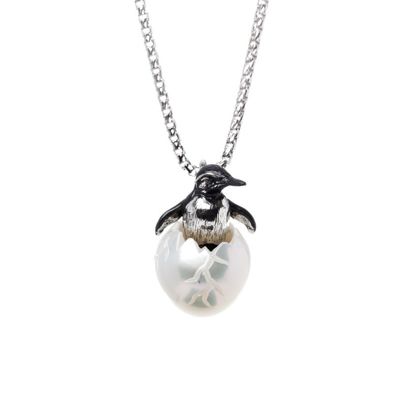 Penguin Egg Pendant from the Galatea Hawaii Collection