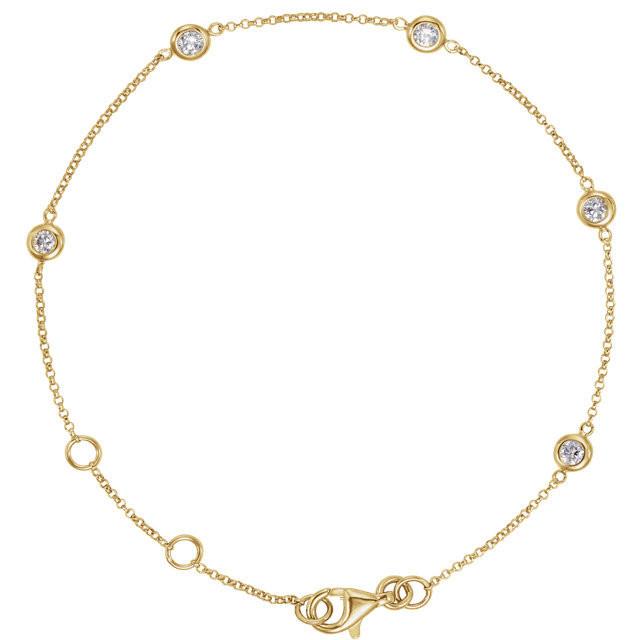 Diamond Bezel Set 5-Station Bracelet