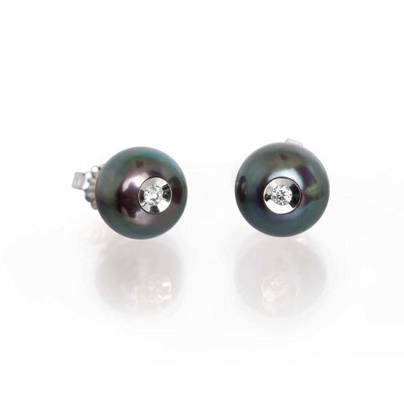Diamond in a Pearl Earrings