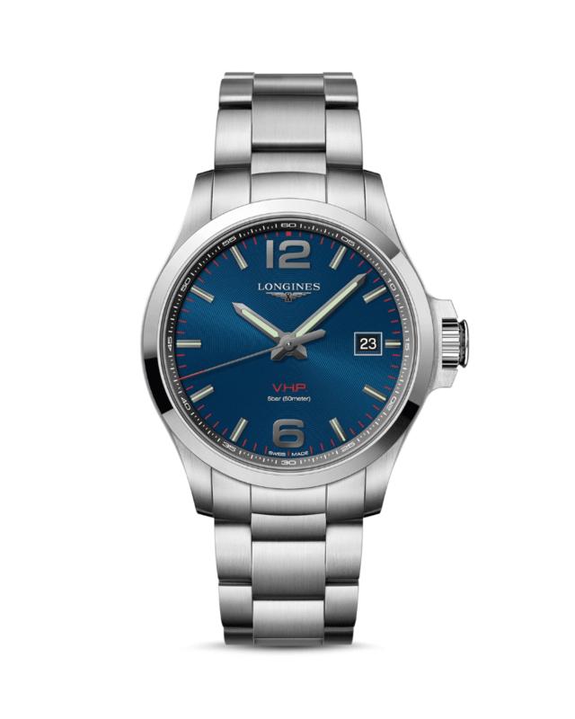 Conquest V.H.P. Quartz Blue Dial Men's Watch