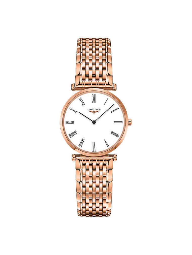 Longines Ladies La Grande Classique Bracelet Strap Watch, Rose Gold/White