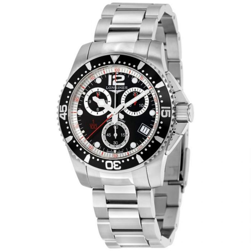 HydroConquest Quartz Chronograph 41mm Black Dial Men's Watch