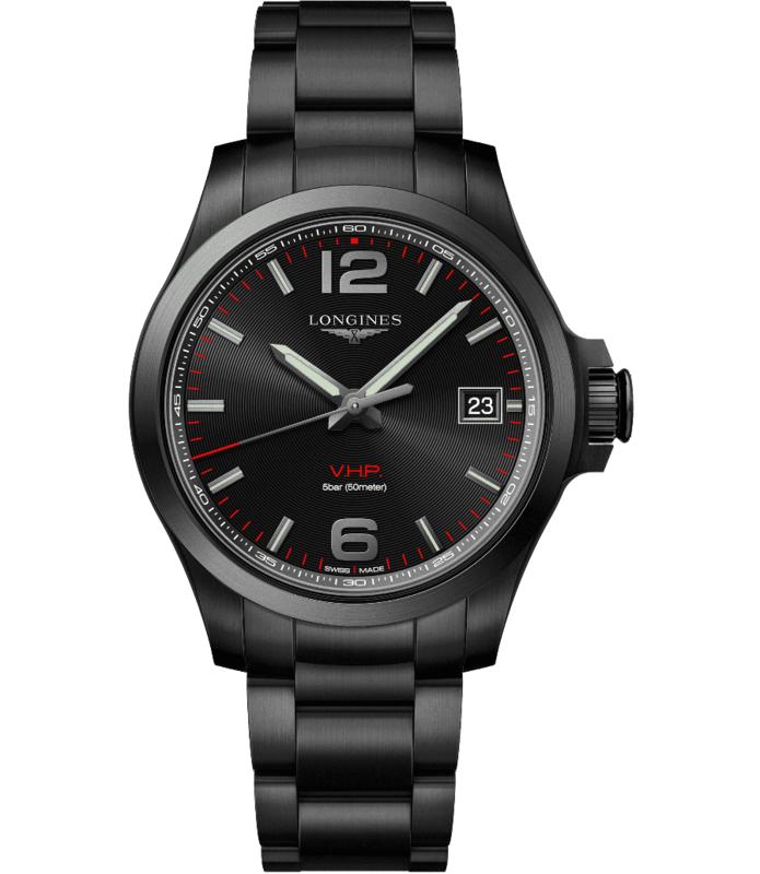 Conquest V.H.P. Black Dial Men's Watch