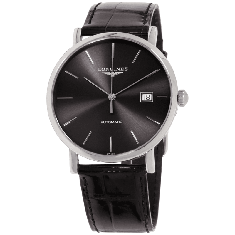 Elegant Automatic Sunray Grey Dial Men's Watch