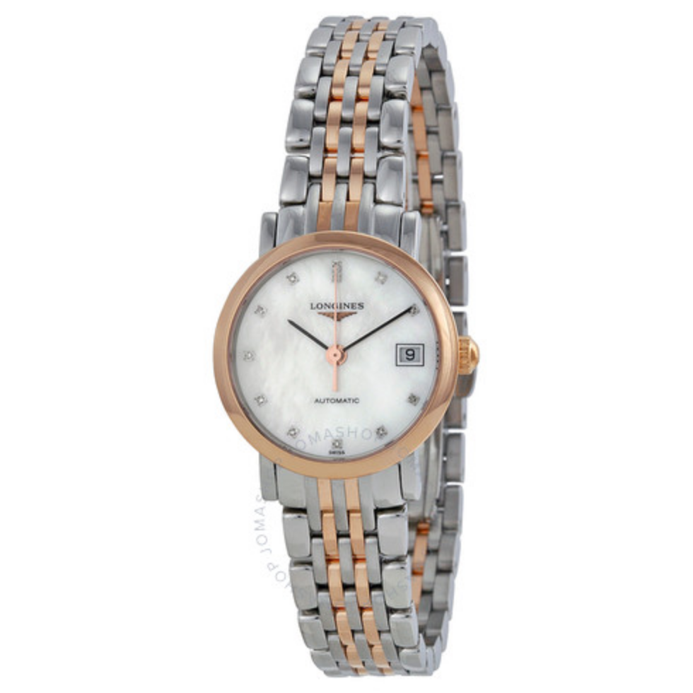 Elegance Mother of Pearl Stainless Steel and Rose Gold Ladies Watch