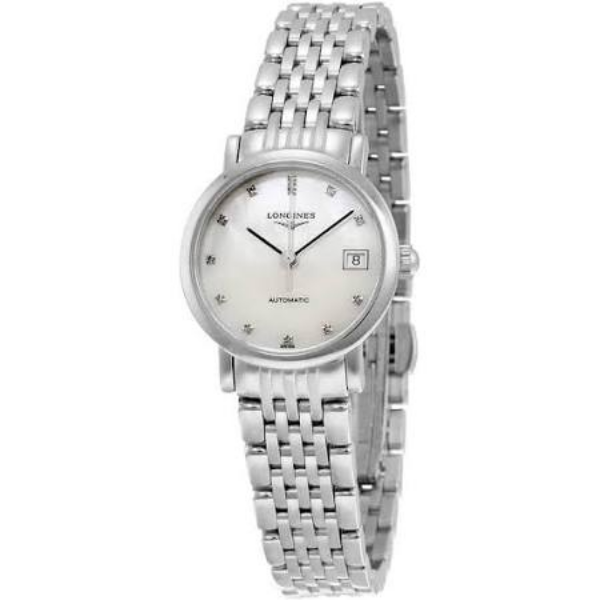 Elegant Mother of Pearl Dial Stainless Steel Ladies Watch