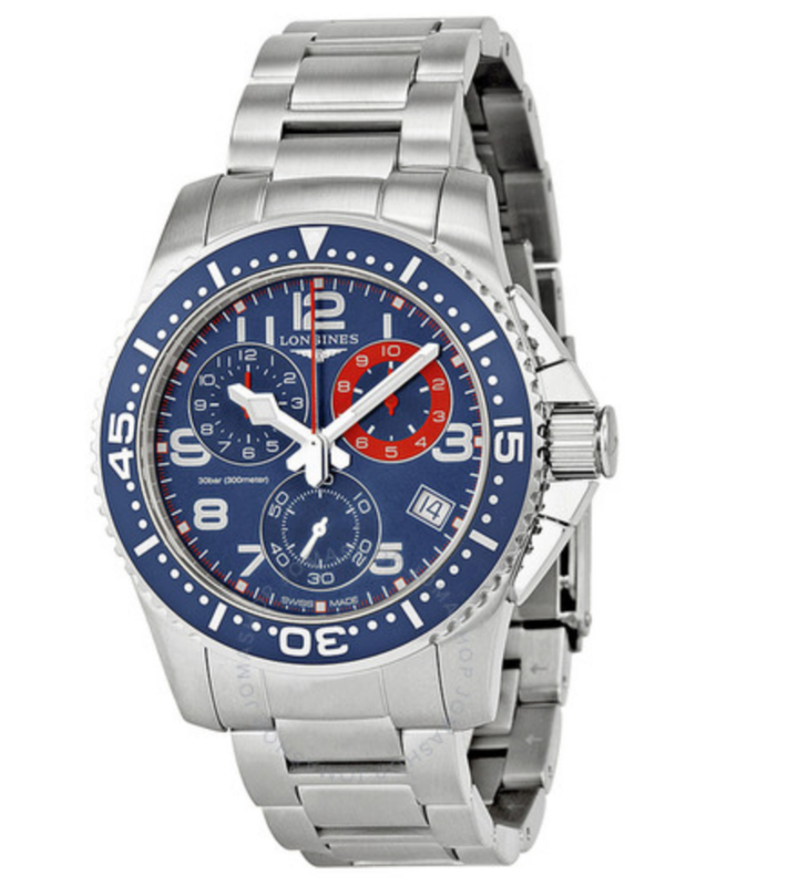 HydroConquest Chronograph Blue Dial Stainless Steel Men's Watch
