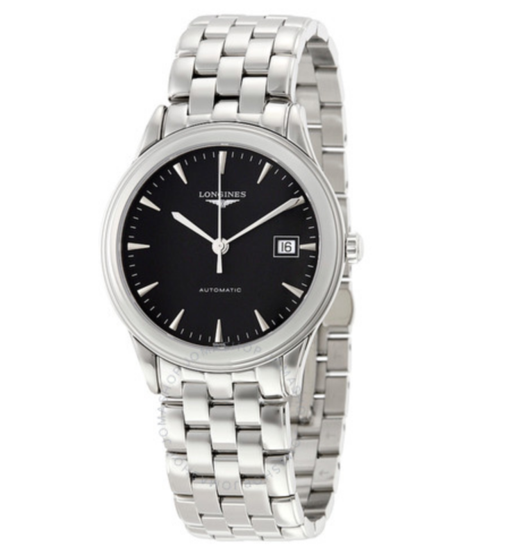 Flagship Automatic Black Dial Stainless Steel Watch