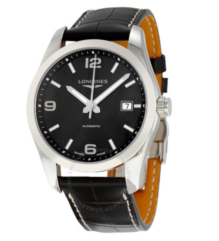 Conquest Classic Black Dial Automatic Men's Watch