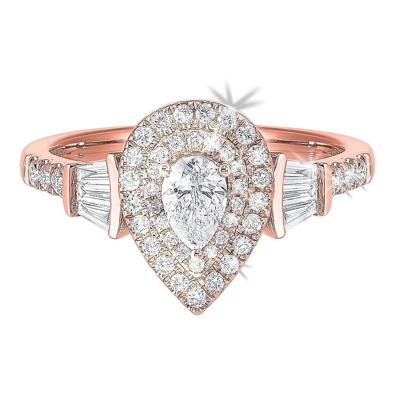 14K Diamond Ring 3/4ctw