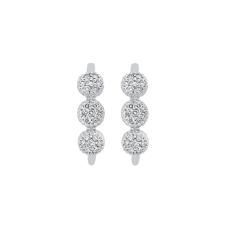 Gold Diamond Earring 1/8 ctw