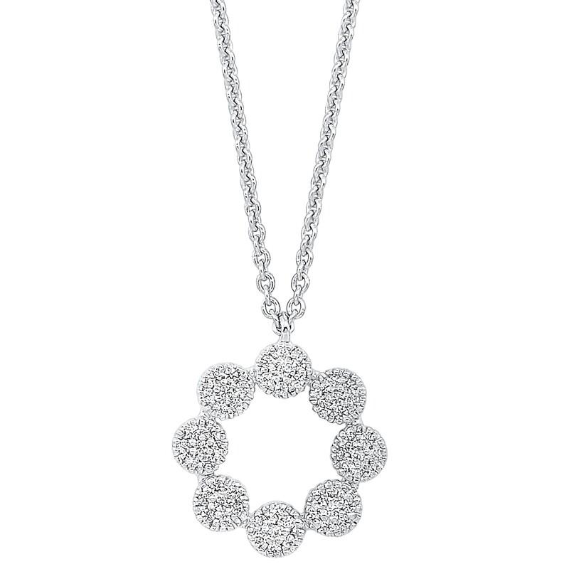 Gold Diamond Necklace 1/7 ctw