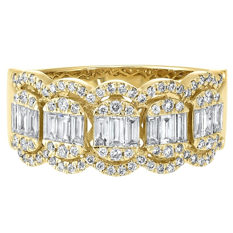 14K YG Diamond Ring 3/4 ctw
