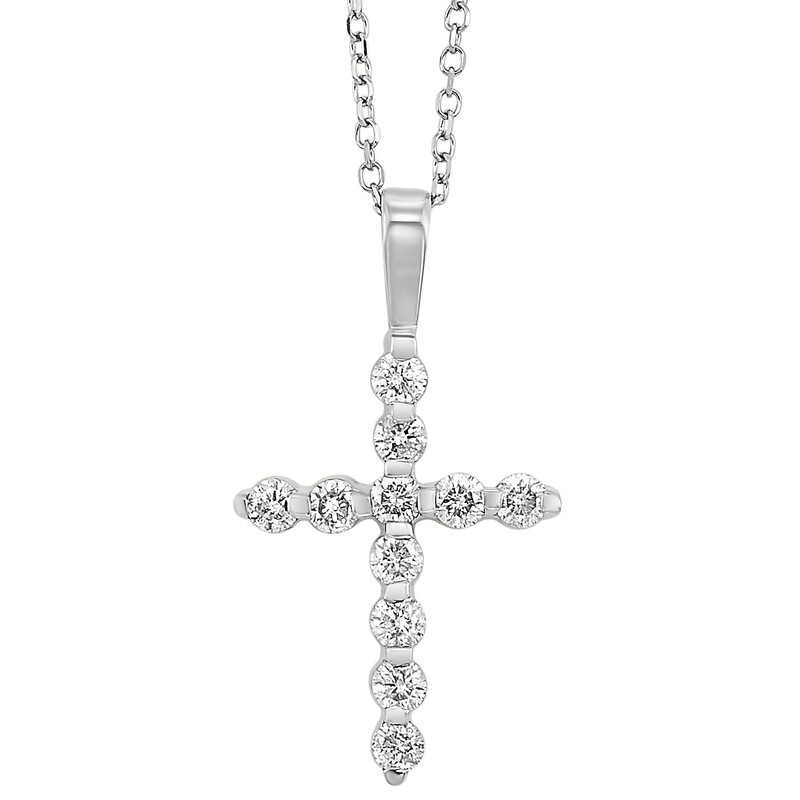 14K Diamond Cross 1/2 ctw