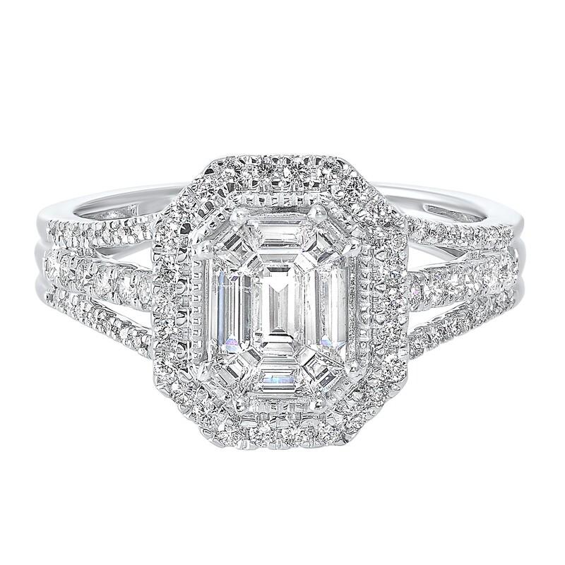 14K Diamond Ring 1ctw