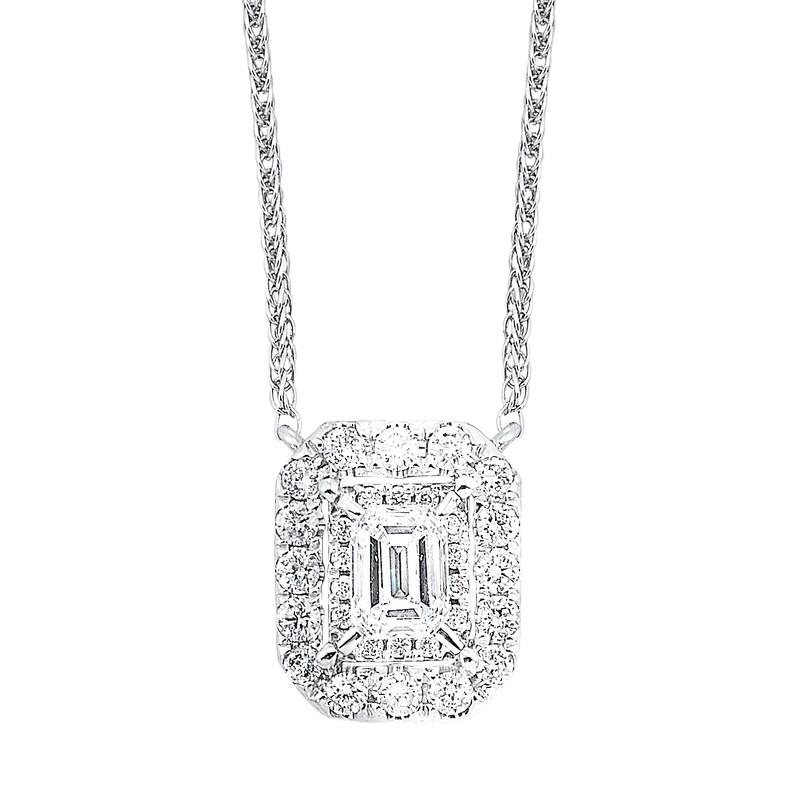 14K Diamond Pendent 1/2 ctw