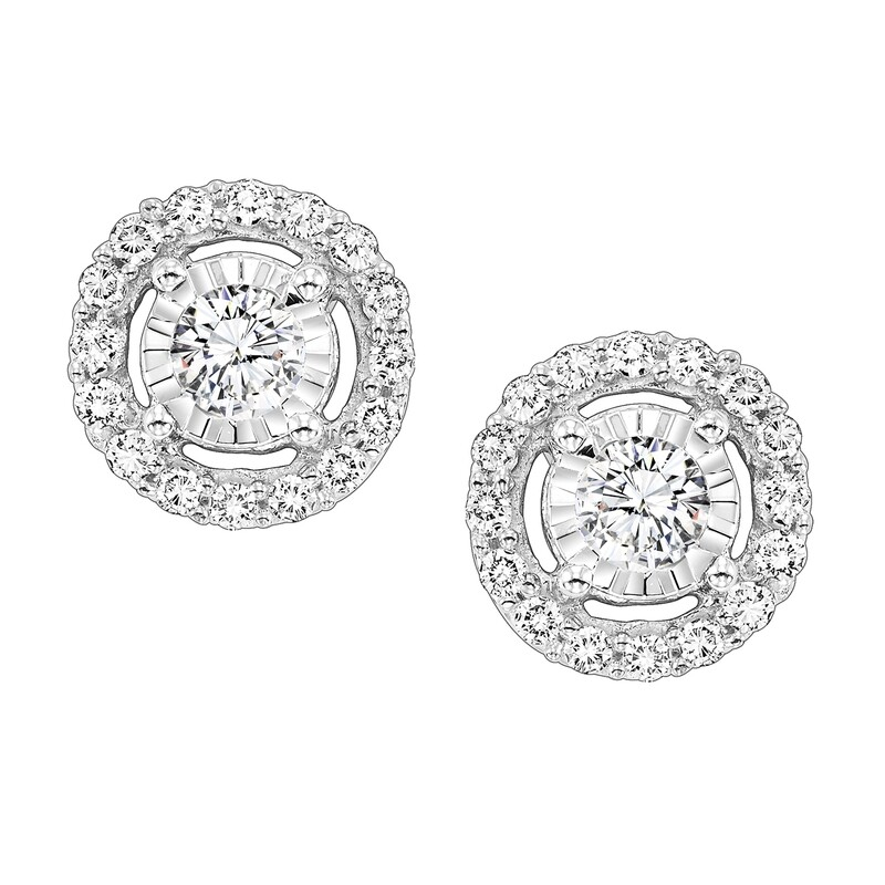 14K Diamond Earring 1 ctw