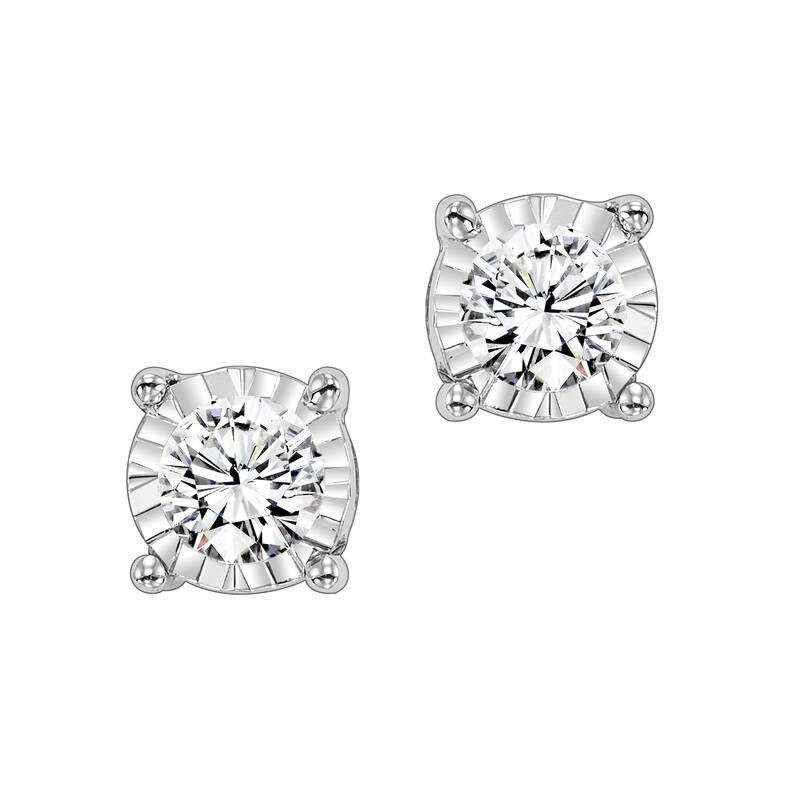 14K Diamond Studs 1 ctw