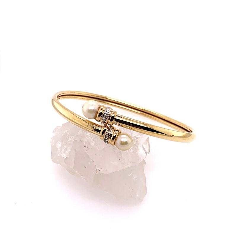 Saltwater Pearl and Diamond Bracelet