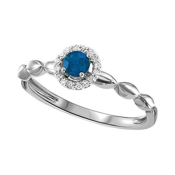 10K White Gold Prong Sapphire Ring (1/15 Ct. Tw.)