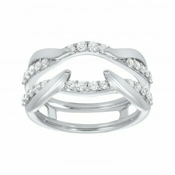 Diamond Engagement Ring Insert Band in 14K White Gold (1/2 ct. tw.)